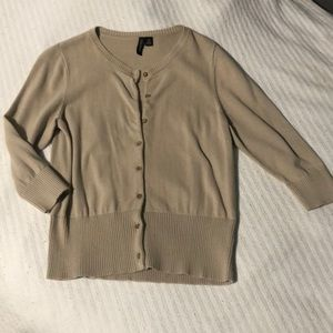 Tan 3/4 button up
